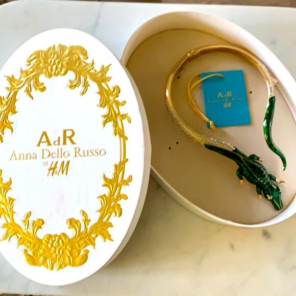 NWT Anna Dello Russo at H&M Crocodile necklace